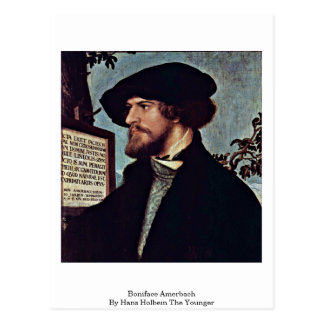 Boniface Amerbach By Hans Holbein The Younger Postcard