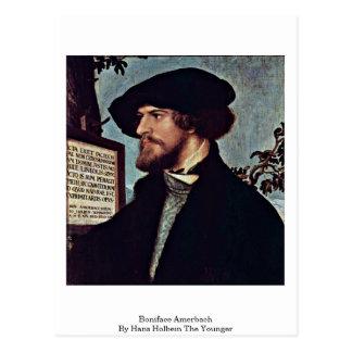 Bonifacio Amerbach de Hans Holbein el más joven Postales
