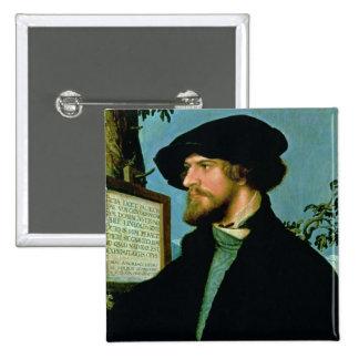 Bonifacius Amerbach, 1519 (oil on pinewood) Pinback Button