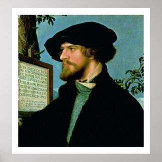 Bonifacius Amerbach, 1519 (oil on pinewood) Poster