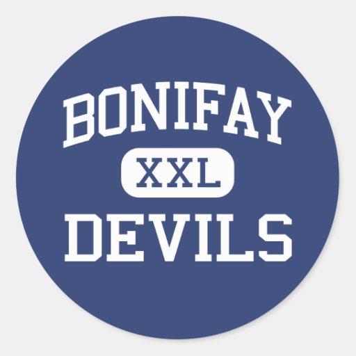 Bonifay Devils Middle School Bonifay Florida Classic Round Sticker