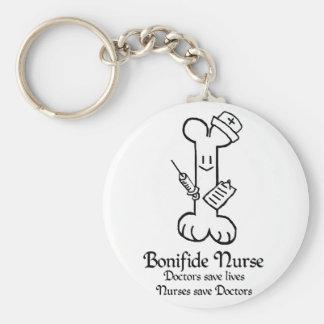 Bonifide Nurse Keychain