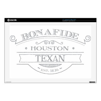 bonifide texan - houston laptop decals
