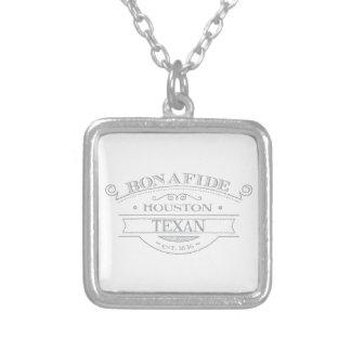 bonifide texan - houston square pendant necklace
