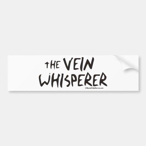 Bonified_Nurse_-_the_vein_whisperer2 Car Bumper Sticker