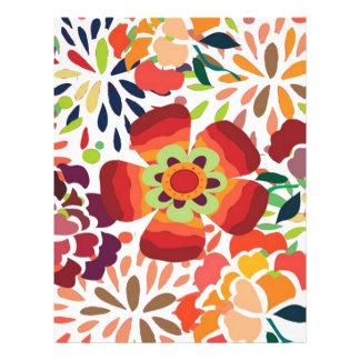 bonita floral del pintura tarjetones