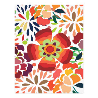 bonita floral del pintura flyer personalizado