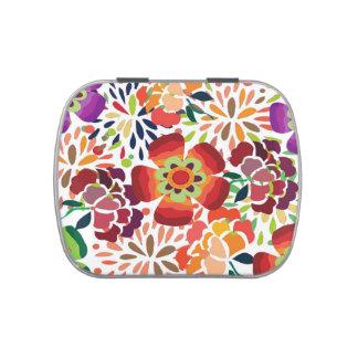bonita floral del pintura jarrones de dulces