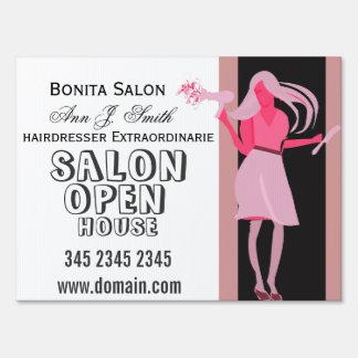 Bonita Salon Hair stylist Business Open House Lawn Sign