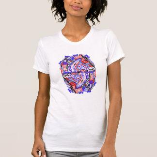 Bonito, camiseta abstracta loca