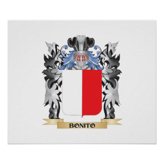 Bonito Coat of Arms - Family Crest Poster