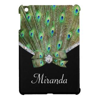 Bonito como un pavo real y diamantes iPad mini fundas