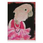 Bonito de Ella en tarjeta de nota rosada