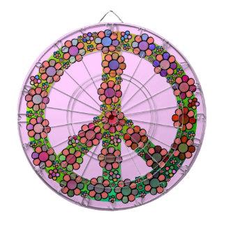 Bonito de la flor del símbolo del signo de la paz
