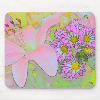Bonito de las flores colorido mousepads