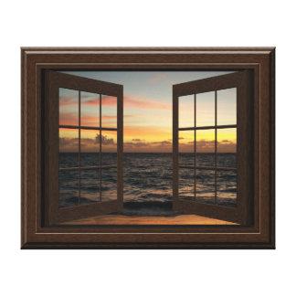 Bonito de relajación de la puesta del sol del impresión en lienzo