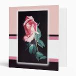 Bonito en carpeta color de rosa rosada