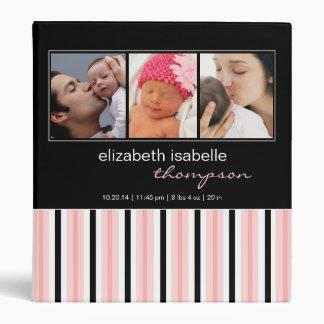 Bonito en carpeta rosada y negra de la foto de la