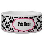 Bonito en cuenco personalizado impresión rosada tazones para perro