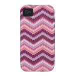 Bonito en diseño rosado del zigzag iPhone 4 carcasa