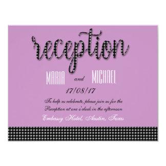 """Bonito en efectos de escritorio rosados del boda invitación 4.25"""" x 5.5"""""""