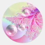 Bonito en etiquetas rosadas de los pegatinas pegatinas redondas
