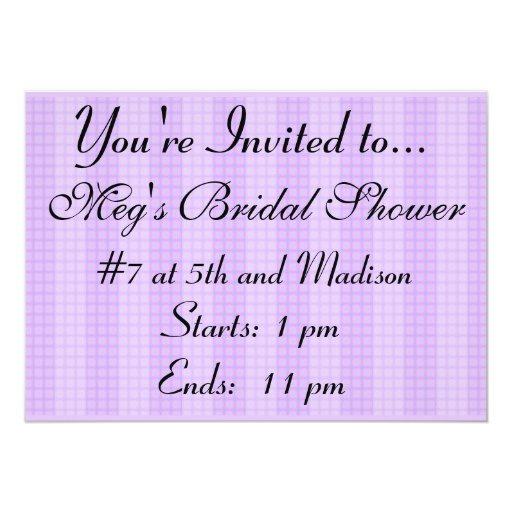 Bonito en la invitación nupcial púrpura de la
