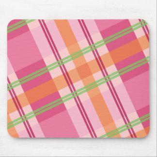 Bonito en la tela escocesa Mousepad Tapetes De Raton
