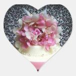 Bonito en pegatinas rosados pegatina de corazon