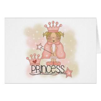Bonito en princesa rosada tarjeta de felicitación