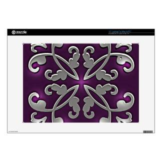 Bonito en púrpura calcomanías para portátiles