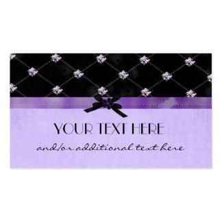 Bonito en púrpura tarjetas de visita