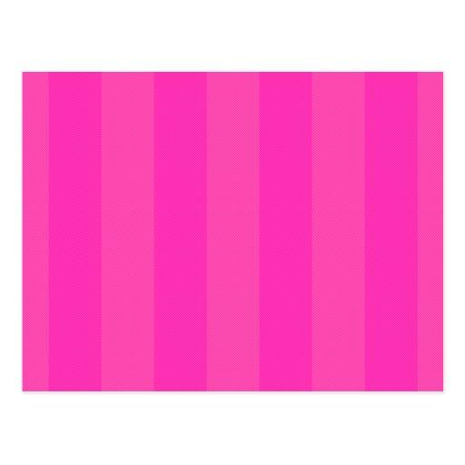 Bonito en rayas rosadas tarjetas postales