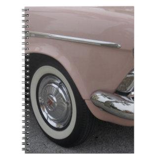 Bonito en rosa libros de apuntes con espiral