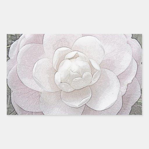 Bonito en rosa pegatina rectangular