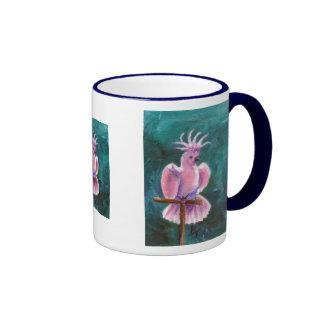 Bonito en taza del Cockatoo rosado