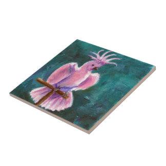 Bonito en teja del Cockatoo rosado