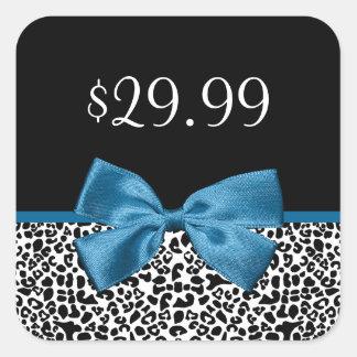 Bonito femenino Blue Ribbon de los precios del Pegatina Cuadrada