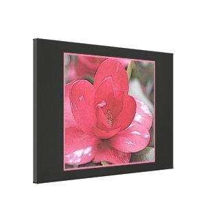 Bonito, flor rosada elegante de la camelia impresión en lienzo