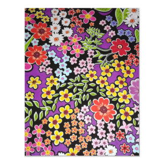 bonito floral del padrão invitación personalizada
