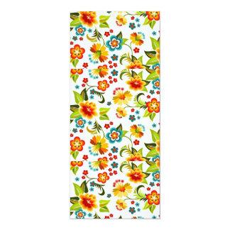 bonito floral del padrão invitaciones personalizada