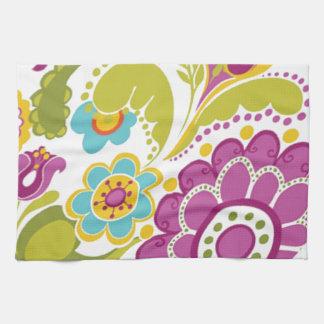 bonito floral del padrão toallas de mano