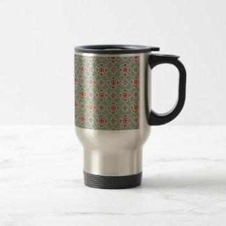 bonito floral del padrão taza de viaje de acero inoxidable