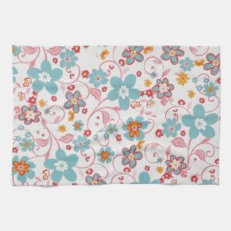 bonito floral del padrrão toalla