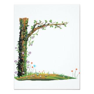 Bonito floral graphic.png del lado izquierdo de invitación 10,8 x 13,9 cm