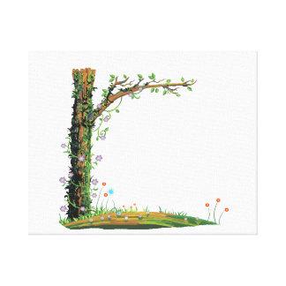 Bonito floral graphic.png del lado izquierdo de la lona estirada galerias