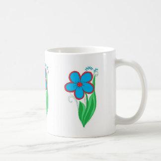 Bonito floral tazas
