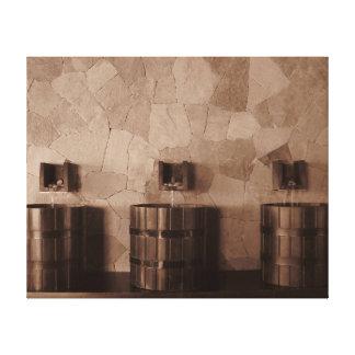 Bonito Fountains Sepia Canvas Print