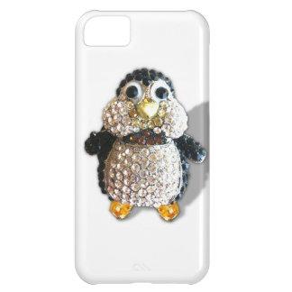 Bonito lindo del pingüino de la chispa de la joya funda para iPhone 5C