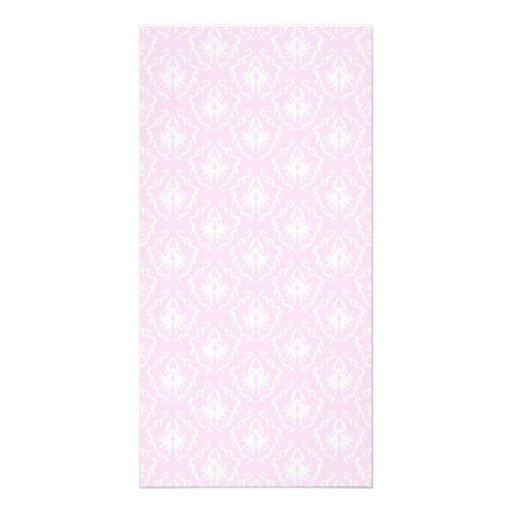 Bonito palidezca - el modelo rosado del damasco co tarjetas fotograficas